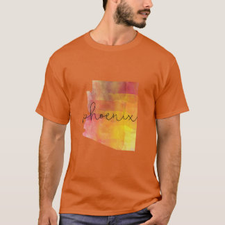 Camiseta Cor do costume da arizona de Phoenix da aguarela