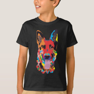 Camiseta Cor do german shepherd