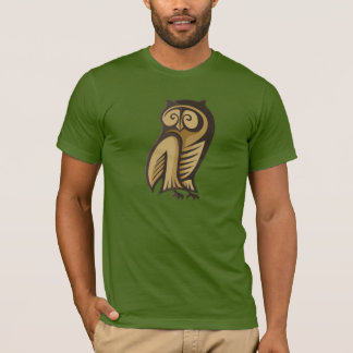 Camiseta Cor do símbolo da coruja