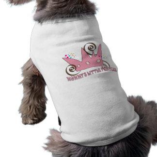 Camiseta cor pequena da princesa sorvete da mamã do dogcoat