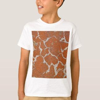 Camiseta Cor velha de russet no concreto