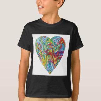 Camiseta Coração #2 da arte do pulso aleatório