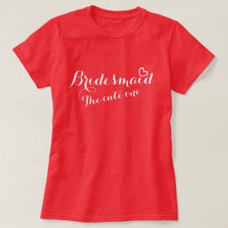 Camiseta Coração aberto da dama de honra o um t-shirt
