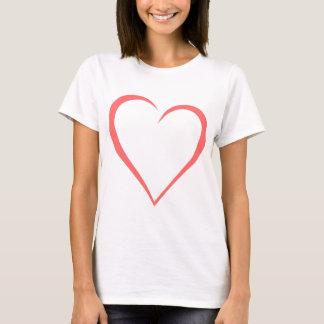Camiseta Coração abstrato