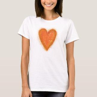Camiseta Coração alaranjado