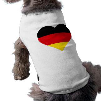 Camiseta Coração alemão da bandeira