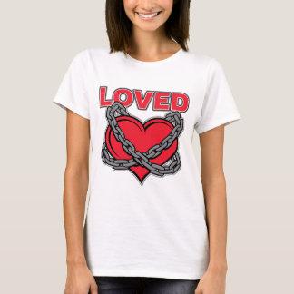 Camiseta Coração amado acorrentado dia dos namorados