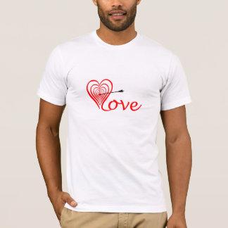 Camiseta Coração amor alvo com seta
