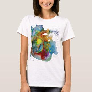 Camiseta Coração anatômico do Watercolour moderno