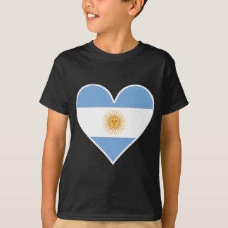 Camiseta Coração argentino da bandeira