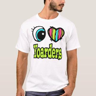 Camiseta Coração brilhante do olho eu amo Hoarders