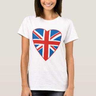 Camiseta Coração britânico da bandeira