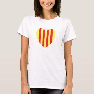 Camiseta coração catalan