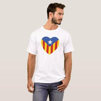 Camiseta Coração Catalan da bandeira