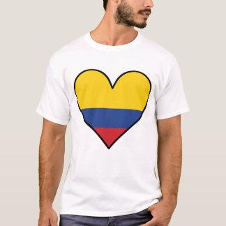 Camiseta Coração colombiano da bandeira