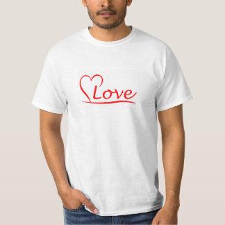 Camiseta Coração com amor
