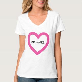 Camiseta Coração cor-de-rosa