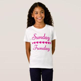 Camiseta Coração cor-de-rosa engraçado bonito de domingo