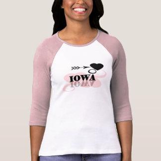 Camiseta Coração cor-de-rosa Iowa