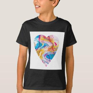 Camiseta Coração da arte do pulso aleatório