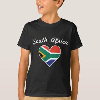 Camiseta Coração da bandeira de África do Sul
