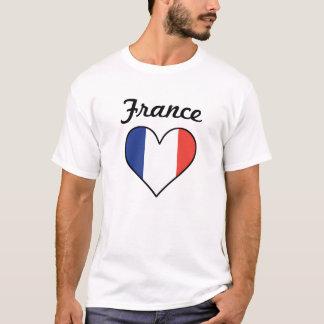 Camiseta Coração da bandeira de France