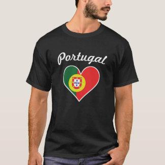 Camiseta Coração da bandeira de Portugal