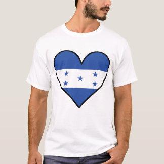 Camiseta Coração da bandeira do Honduran