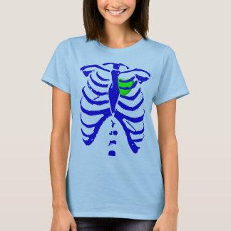 Camiseta coração da caixa torácica