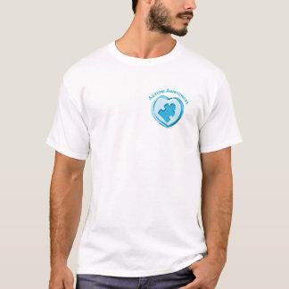 Camiseta Coração da consciência do autismo