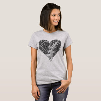 Camiseta Coração da fantasia 3 D