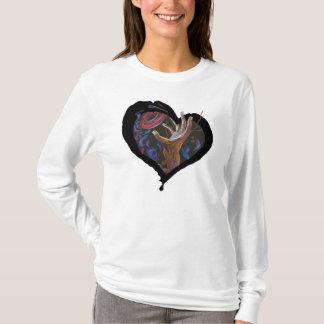 Camiseta Coração da pilha de Sicke - esperança