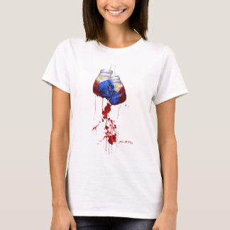Camiseta Coração das senhoras filipinas do guerreiro