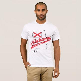 Camiseta Coração de Alabama de Dixie