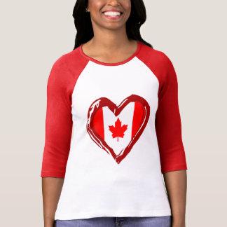 Camiseta Coração de Canadá