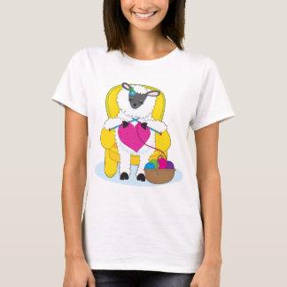Camiseta Coração de confecção de malhas dos carneiros