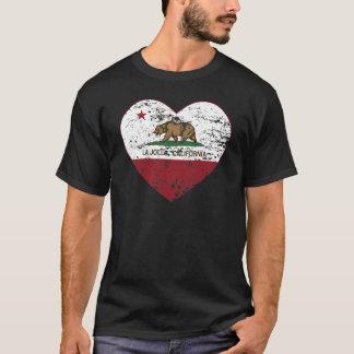 Camiseta coração de La Jolla da bandeira de Califórnia