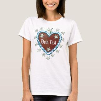 Camiseta Coração de pão de gengibre Seu texto Oktoberfest