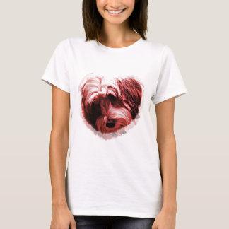 Camiseta Coração de Terrier tibetano