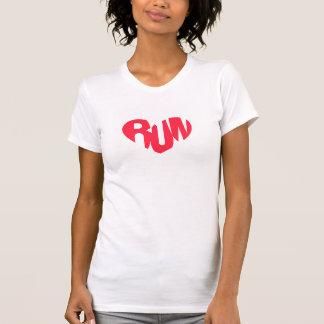 Camiseta Coração de um corredor - o Racerback das mulheres