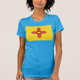 Camiseta Coração de ZIA da bandeira de New mexico - estilo