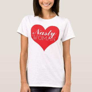 Camiseta Coração desagradável da mulher - anti trunfo de
