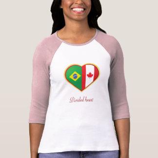 Camiseta Coração dividido