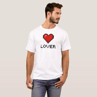 Camiseta Coração do amante do pixel