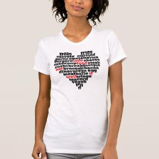 Camiseta Coração do amor da comida do amor