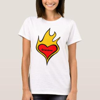 Camiseta Coração do amor para a avó