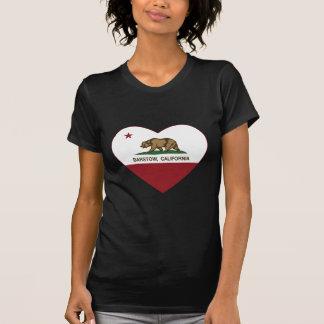 Camiseta coração do barstow da bandeira de Califórnia