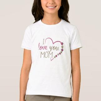 Camiseta Coração do dia das mães da mamã do amor