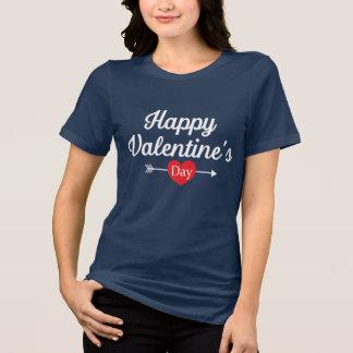 Camiseta Coração do feliz dia dos namorados