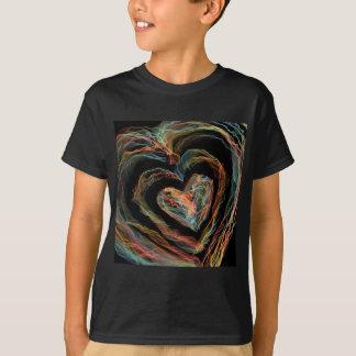 Camiseta Coração do fogo do arco-íris
